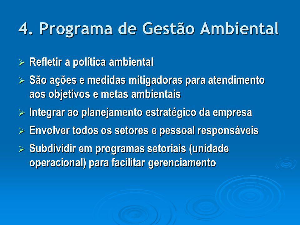 4. Programa de Gestão Ambiental