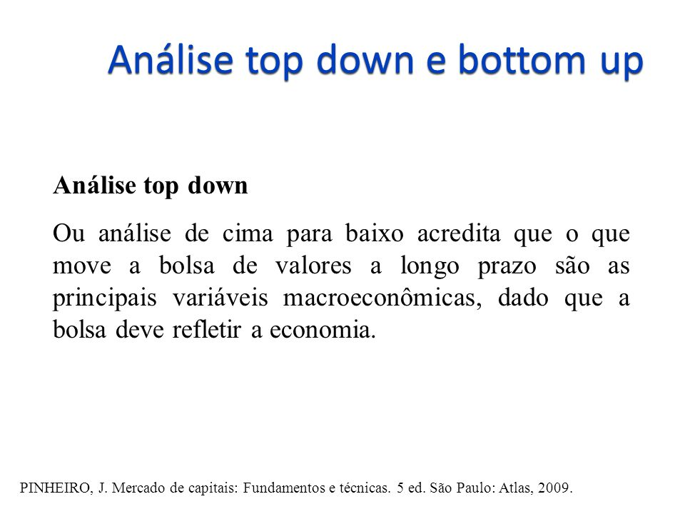 Análise top down e bottom up
