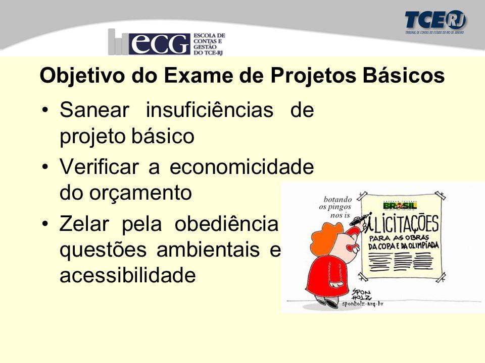 Objetivo do Exame de Projetos Básicos