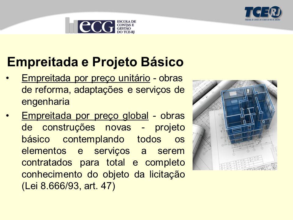 Empreitada e Projeto Básico