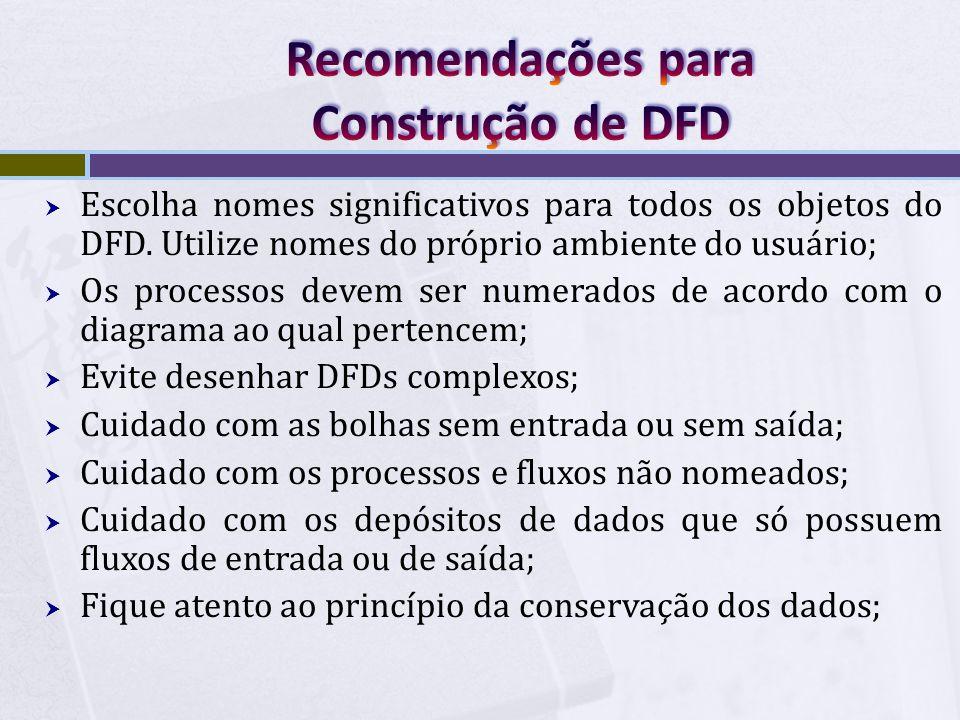 Recomendações para Construção de DFD