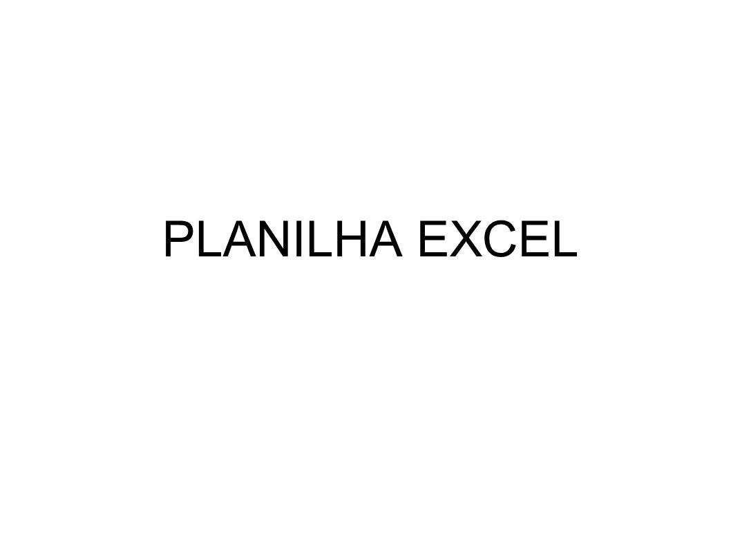 PLANILHA EXCEL
