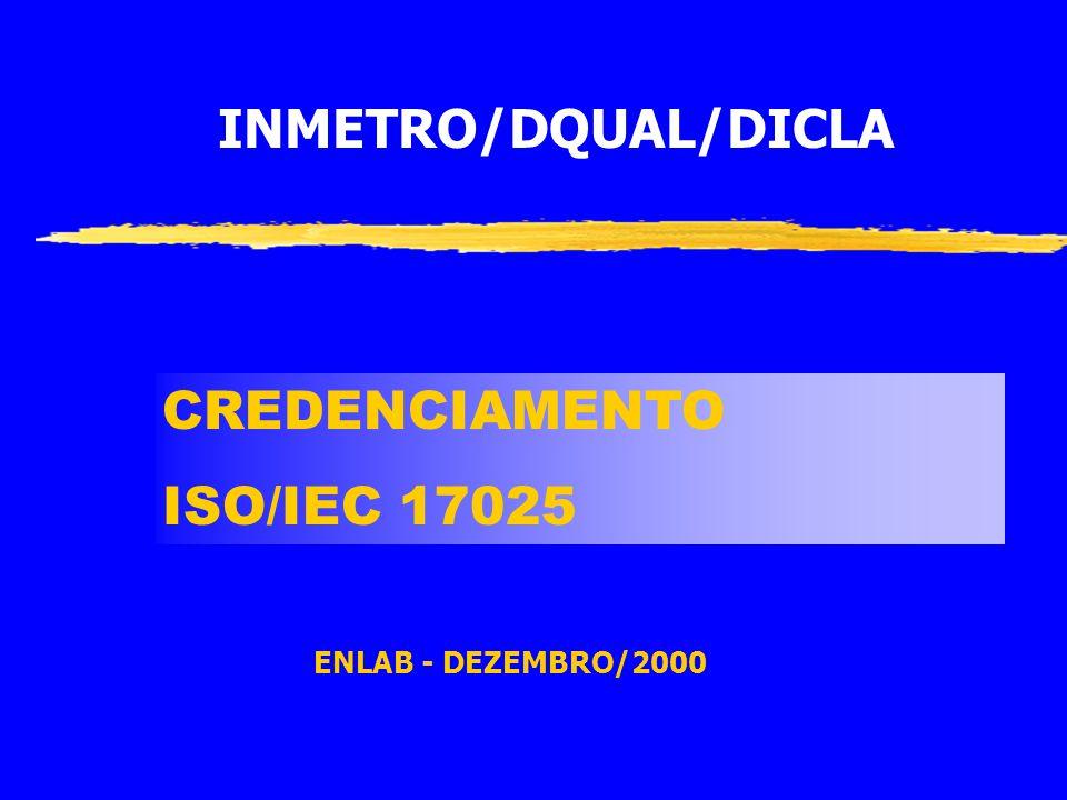 INMETRO/DQUAL/DICLA CREDENCIAMENTO ISO/IEC 17025 ENLAB - DEZEMBRO/2000