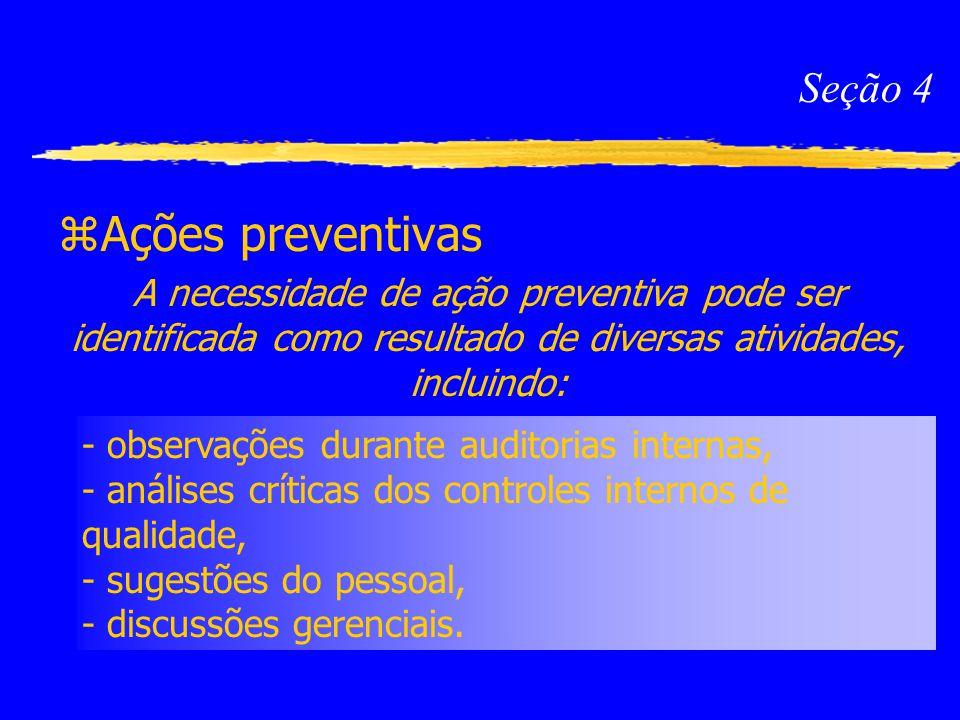 Ações preventivas Seção 4