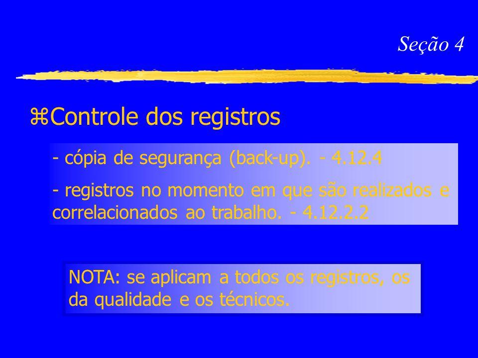 Controle dos registros