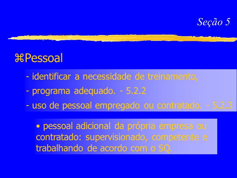 Pessoal Seção 5 - identificar a necessidade de treinamento,