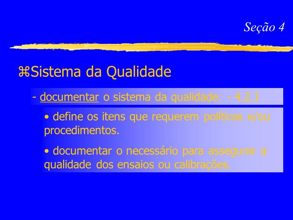 Sistema da Qualidade Seção 4