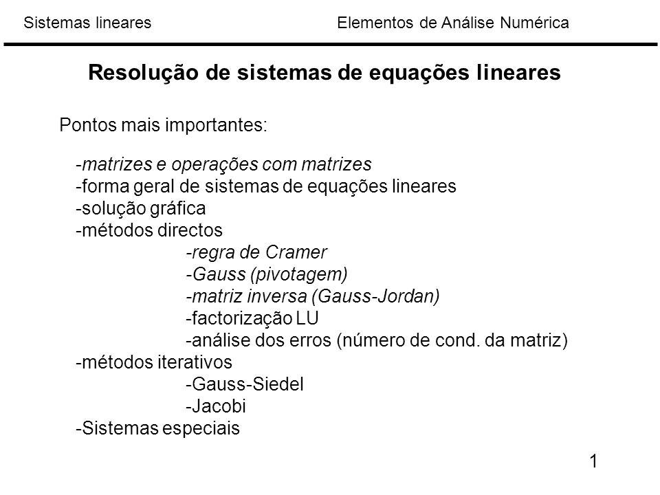 Resolução de sistemas de equações lineares