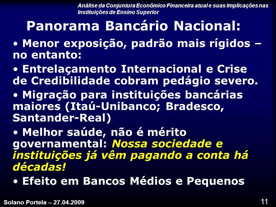 Panorama Bancário Nacional: