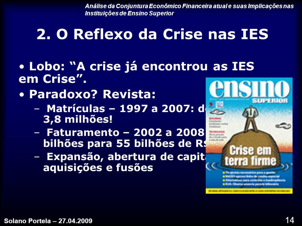 2. O Reflexo da Crise nas IES