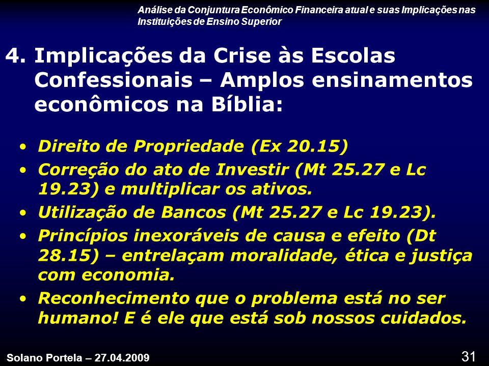 Análise da Conjuntura Econômico Financeira atual e suas Implicações nas Instituições de Ensino Superior