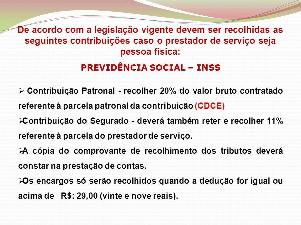 PREVIDÊNCIA SOCIAL – INSS