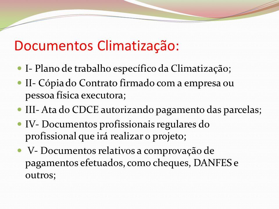 Documentos Climatização: