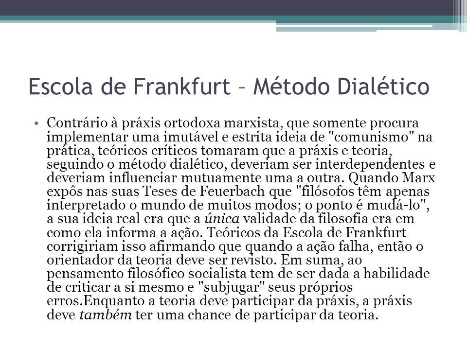 Escola de Frankfurt – Método Dialético