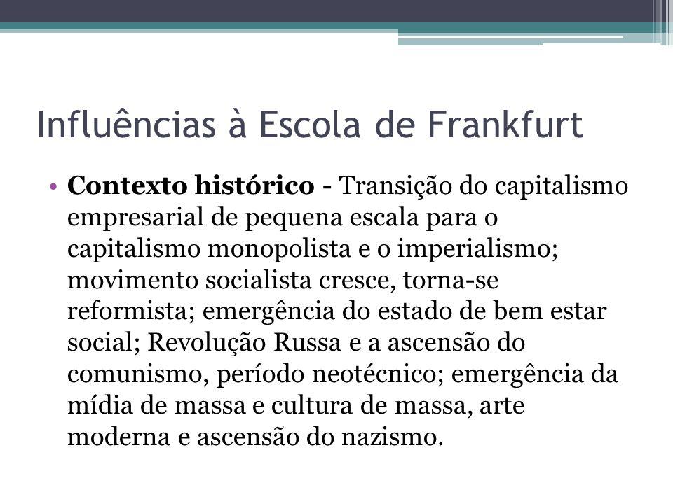 Influências à Escola de Frankfurt