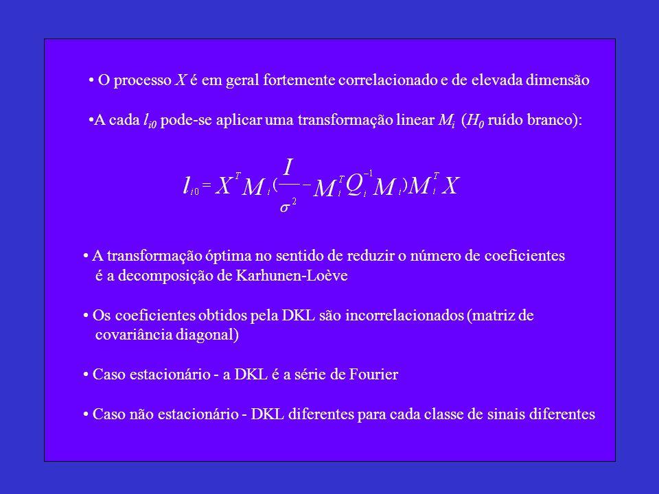 O processo X é em geral fortemente correlacionado e de elevada dimensão