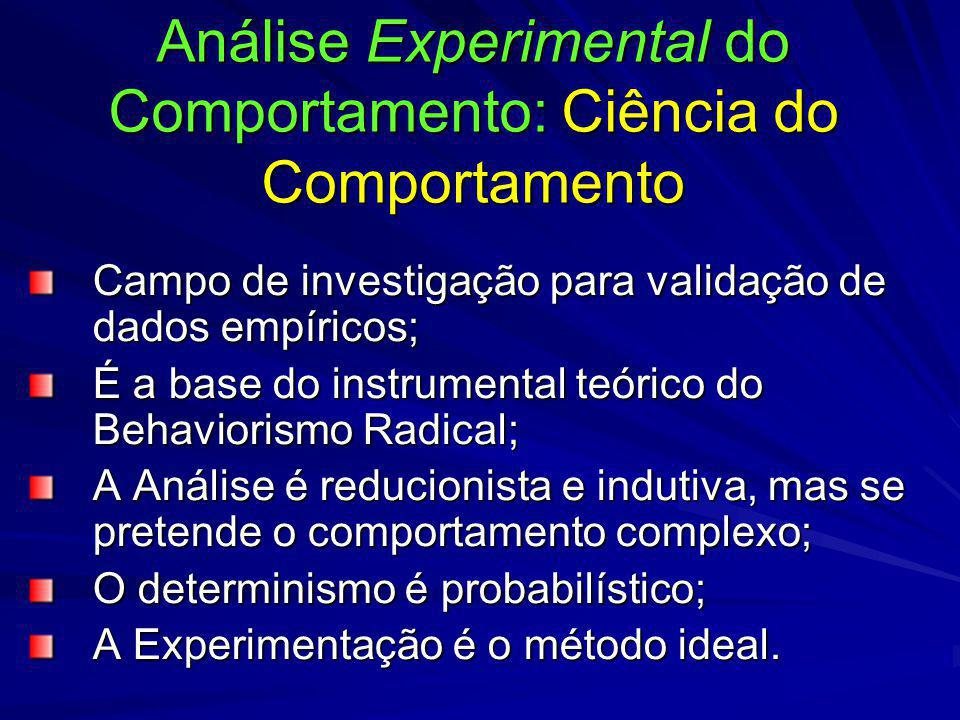 Análise Experimental do Comportamento: Ciência do Comportamento