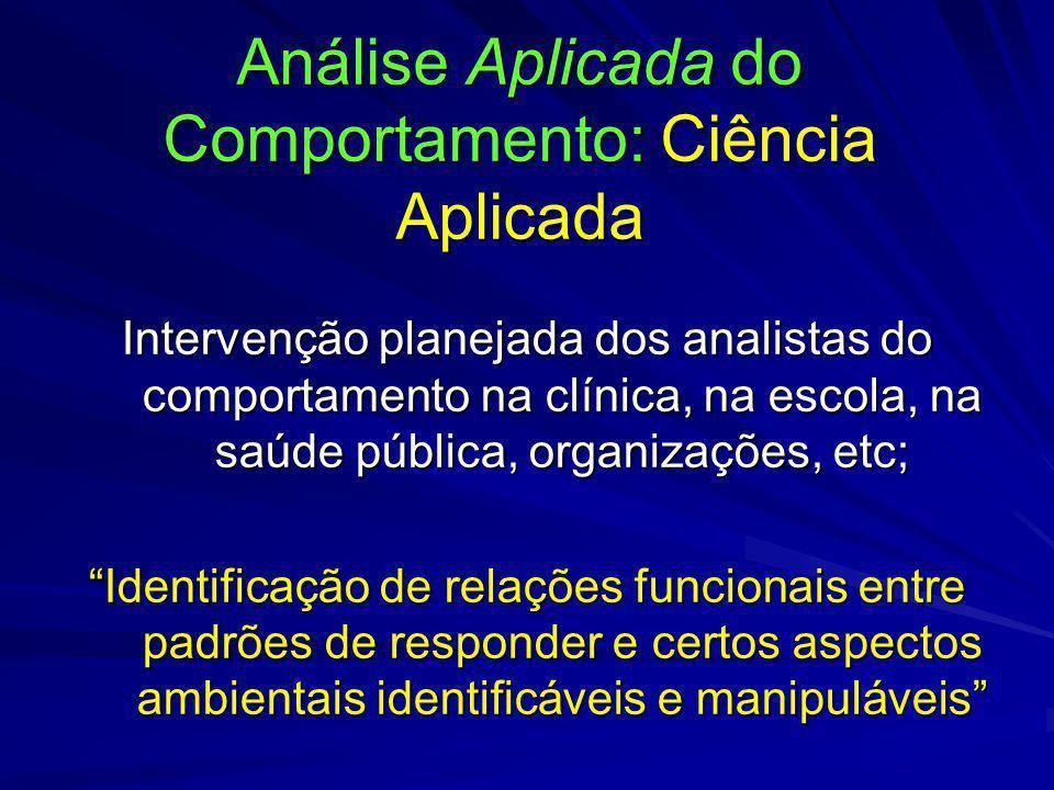 Análise Aplicada do Comportamento: Ciência Aplicada