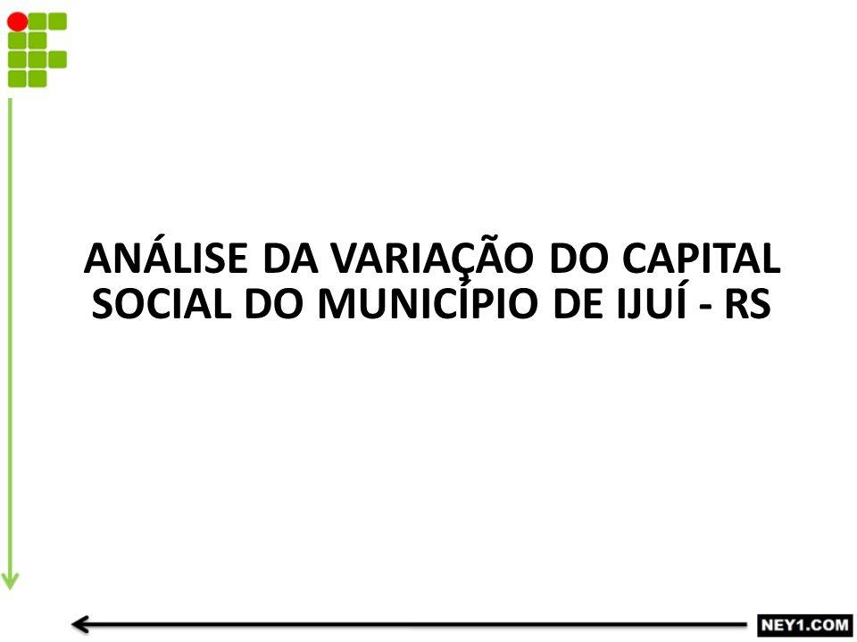 ANÁLISE DA VARIAÇÃO DO CAPITAL SOCIAL DO MUNICÍPIO DE IJUÍ - RS