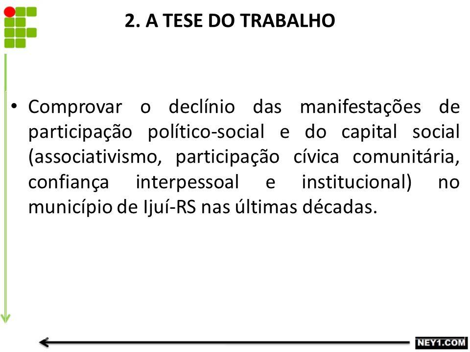 2. A TESE DO TRABALHO
