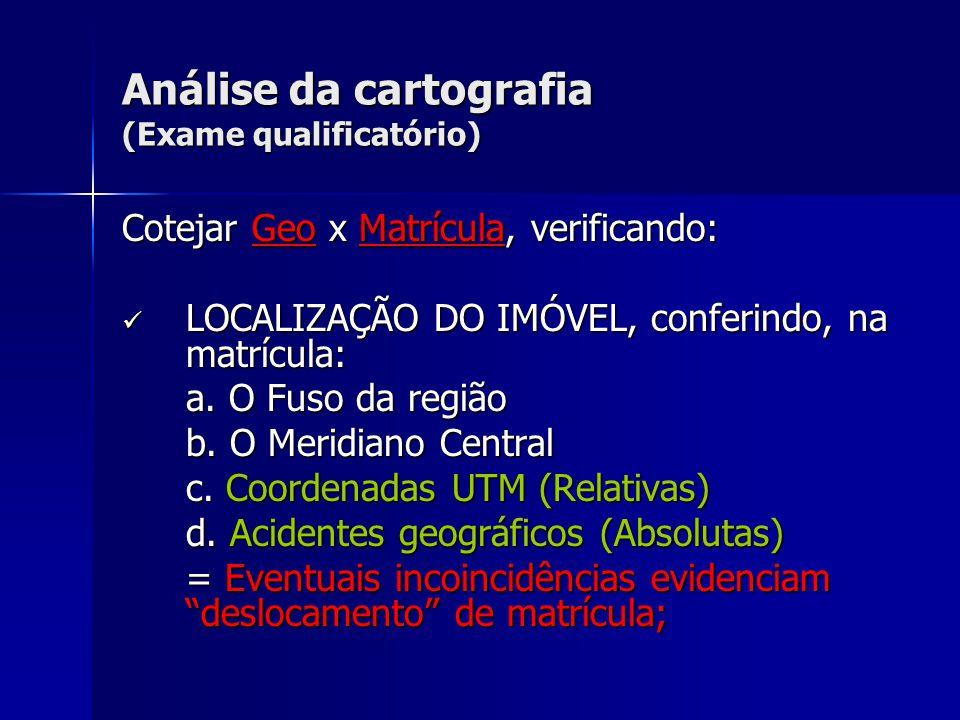 Análise da cartografia (Exame qualificatório)