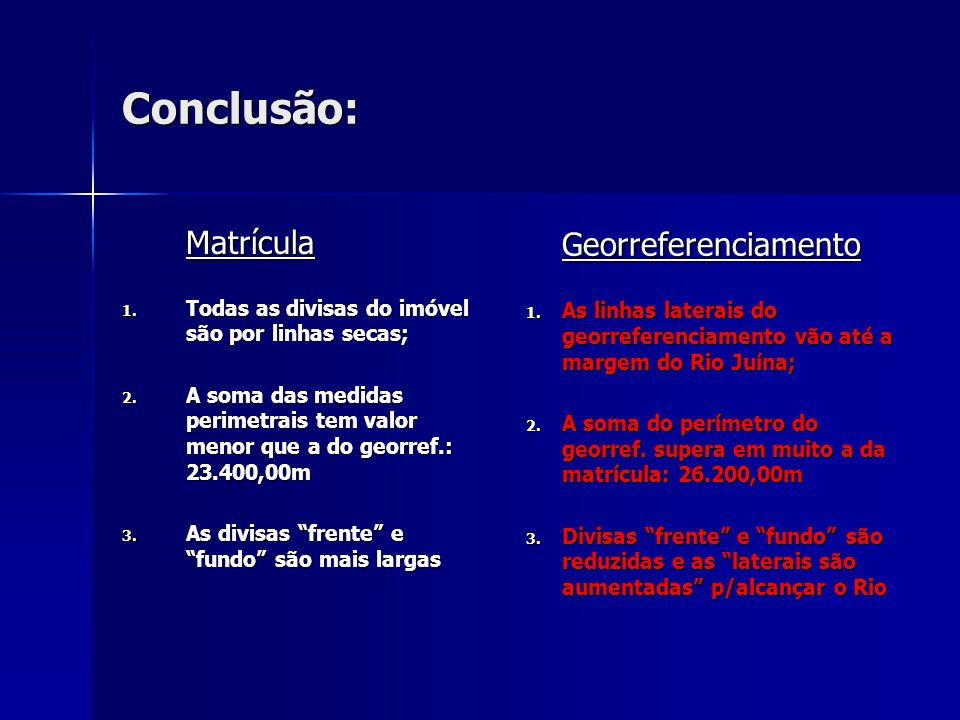 Conclusão: Georreferenciamento Matrícula