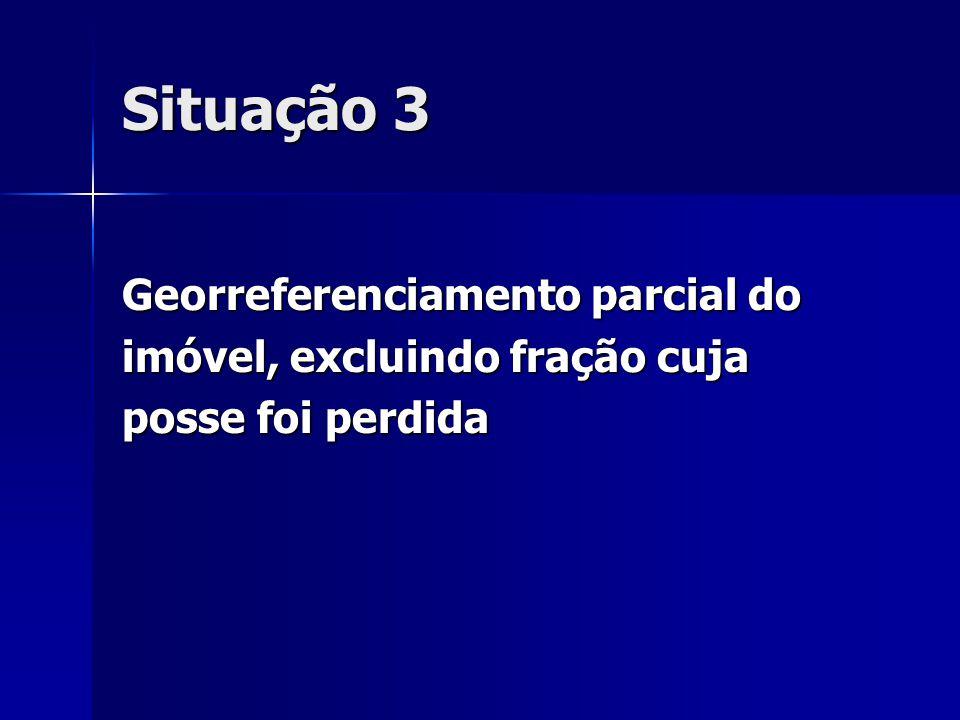 Situação 3 Georreferenciamento parcial do