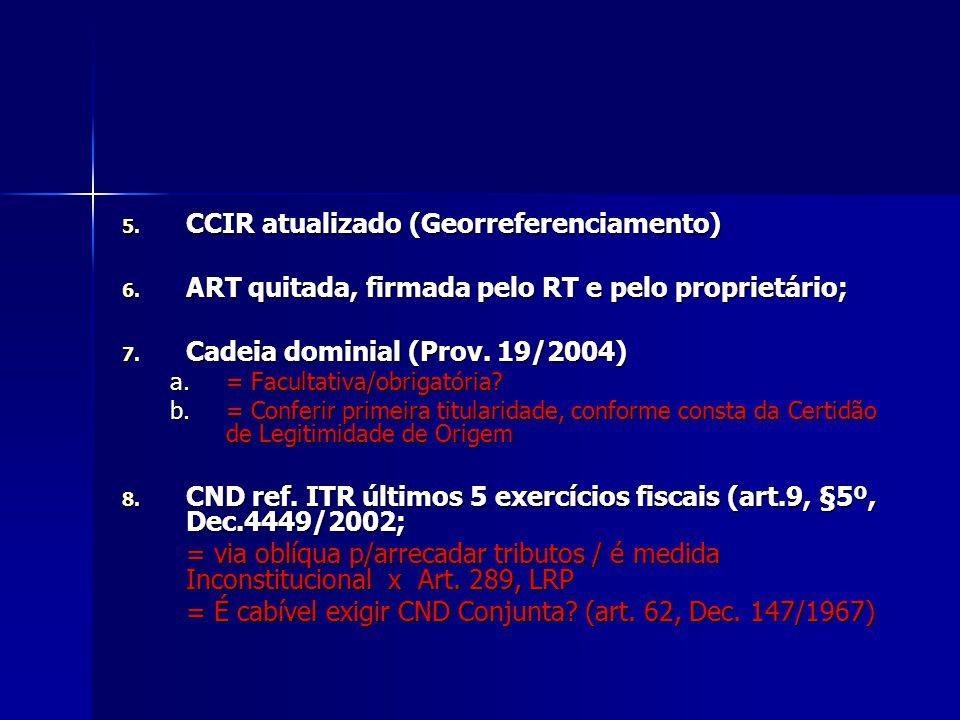 CCIR atualizado (Georreferenciamento)