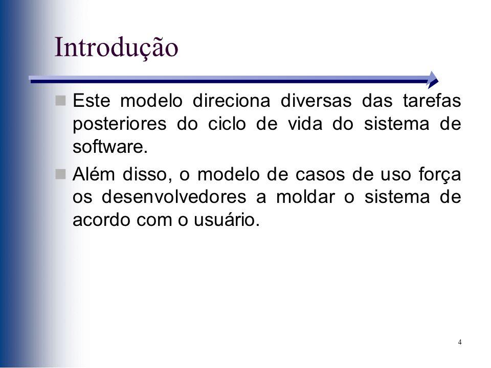 Introdução Este modelo direciona diversas das tarefas posteriores do ciclo de vida do sistema de software.