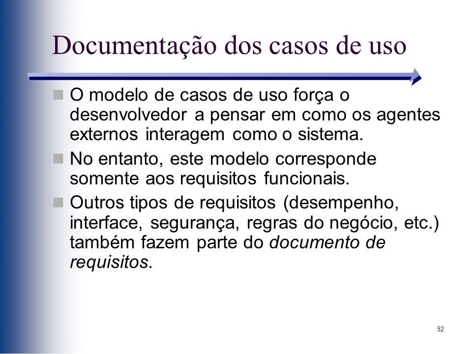 Documentação dos casos de uso