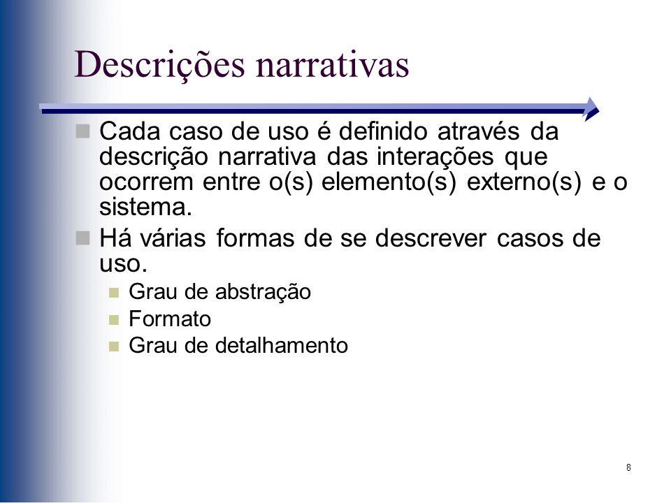 Descrições narrativas