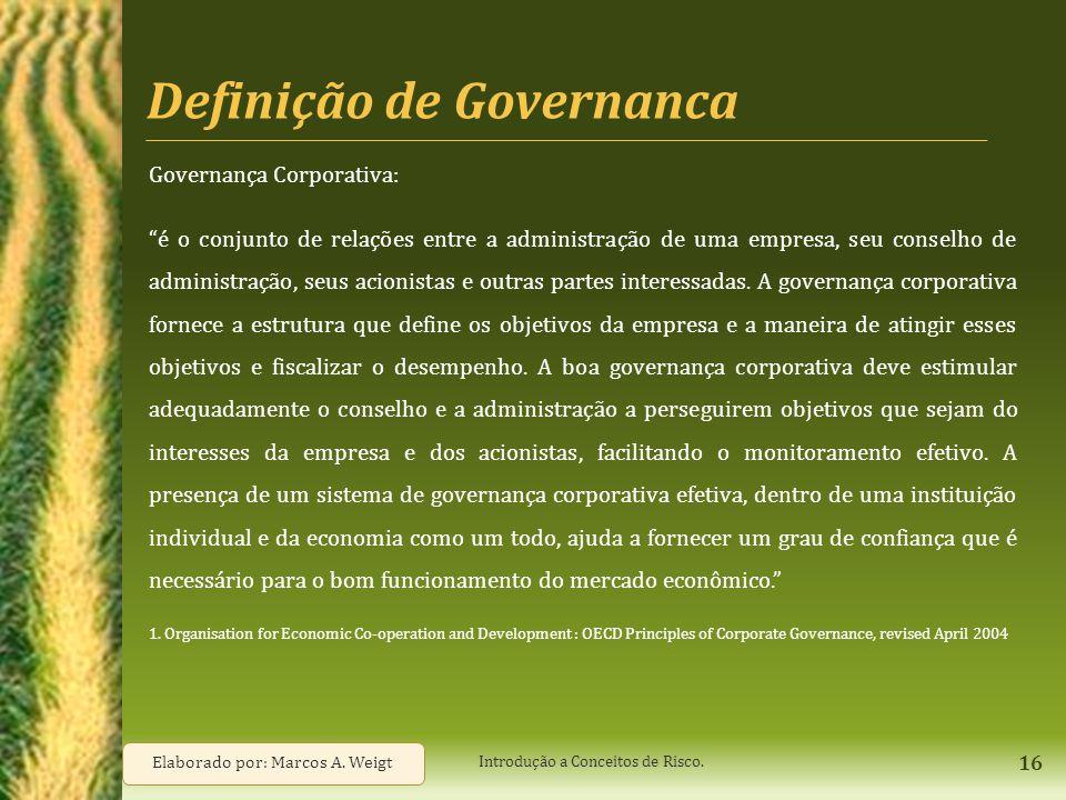 Definição de Governanca