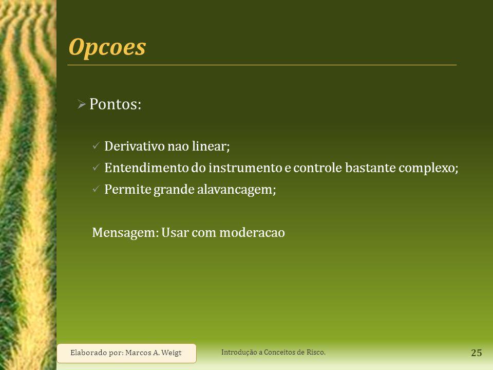 Opcoes Pontos: Derivativo nao linear;