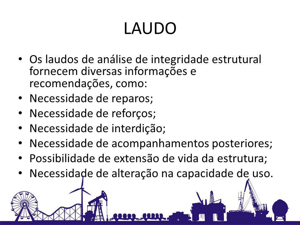 LAUDO Os laudos de análise de integridade estrutural fornecem diversas informações e recomendações, como: