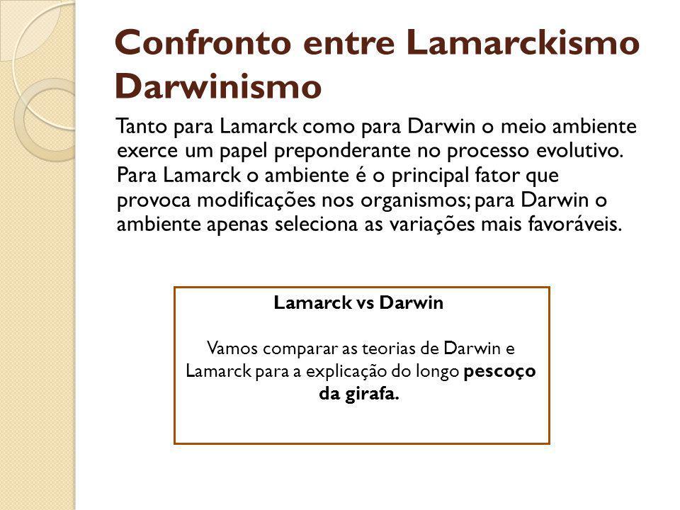Confronto entre Lamarckismo Darwinismo