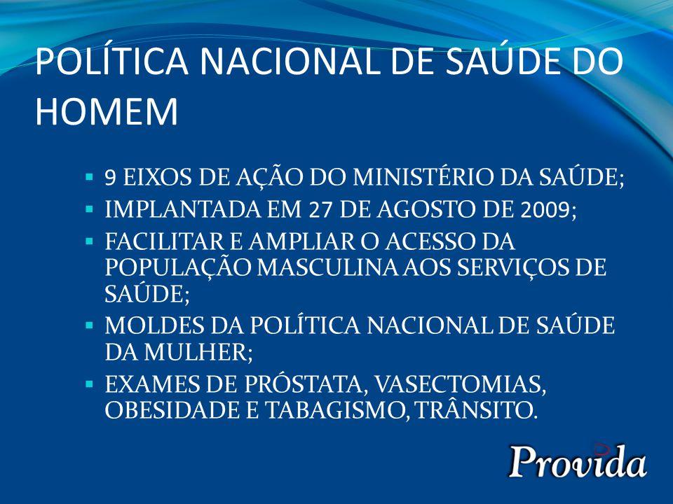 POLÍTICA NACIONAL DE SAÚDE DO HOMEM