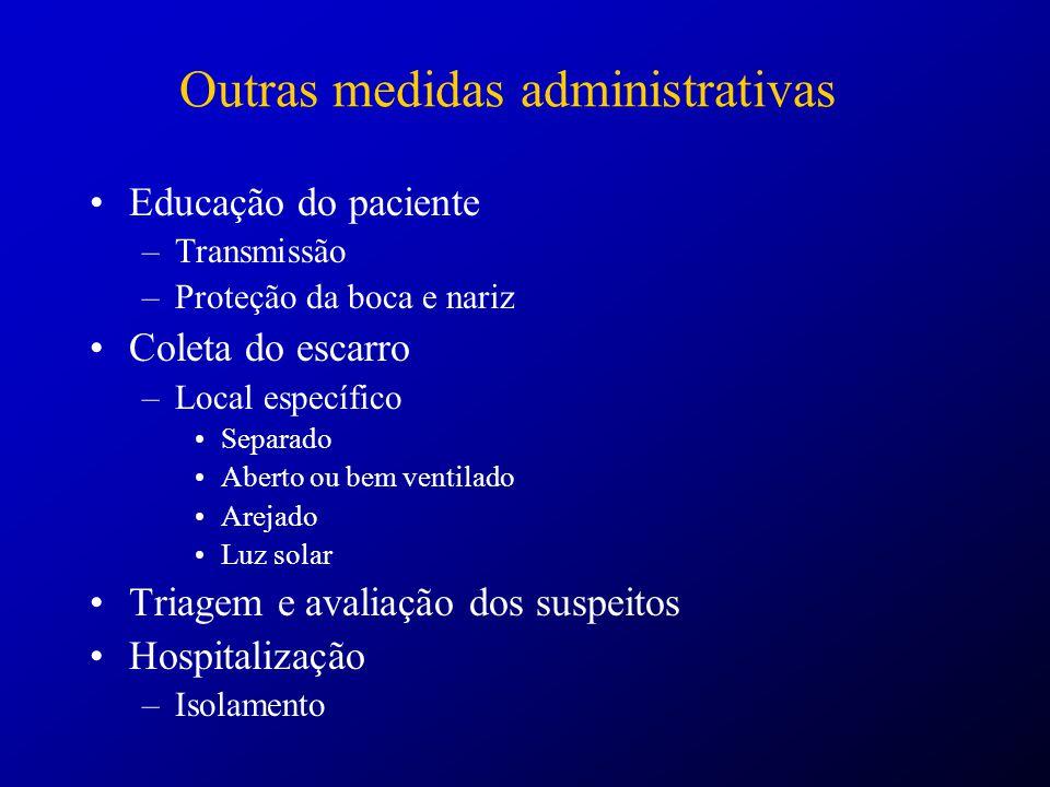 Outras medidas administrativas