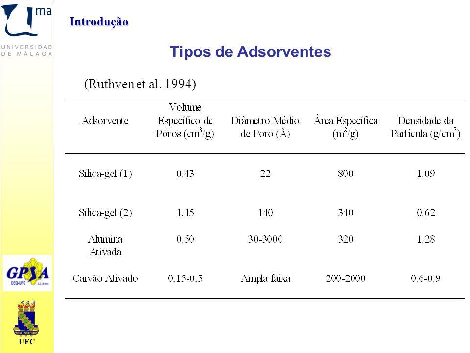 Introdução Tipos de Adsorventes (Ruthven et al. 1994)