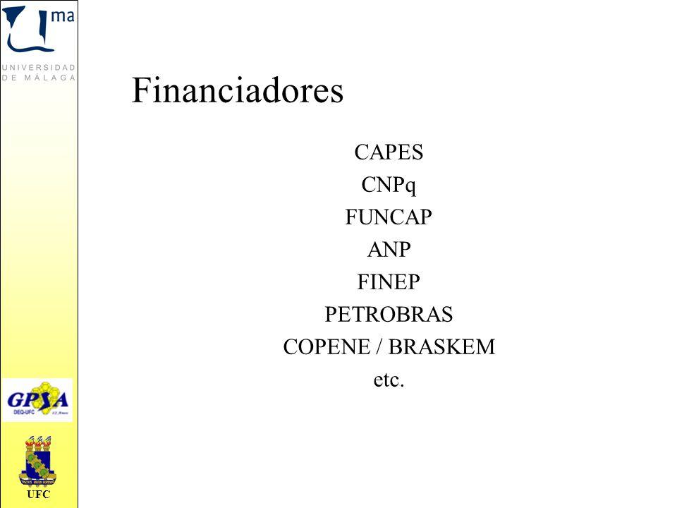 Financiadores CAPES CNPq FUNCAP ANP FINEP PETROBRAS COPENE / BRASKEM