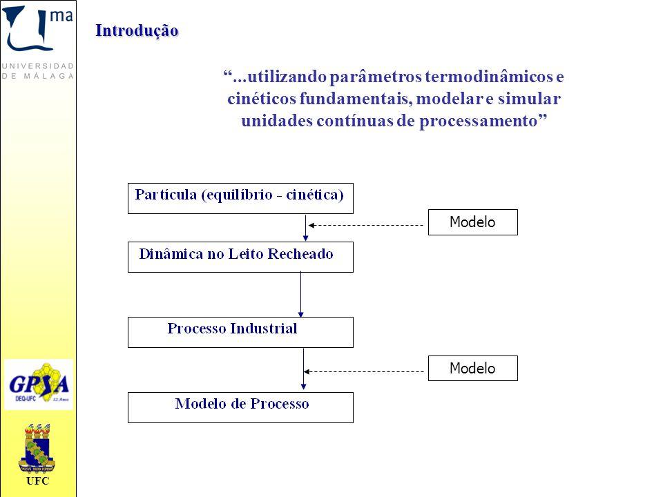 Introdução ...utilizando parâmetros termodinâmicos e cinéticos fundamentais, modelar e simular unidades contínuas de processamento