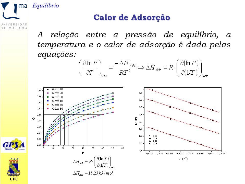 Equilíbrio Calor de Adsorção.