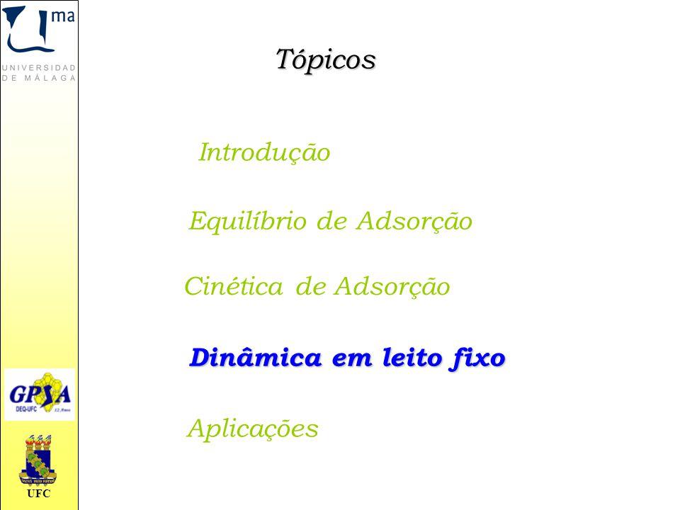 Tópicos Introdução Equilíbrio de Adsorção Cinética de Adsorção
