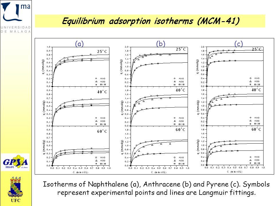 Equilibrium adsorption isotherms (MCM-41)