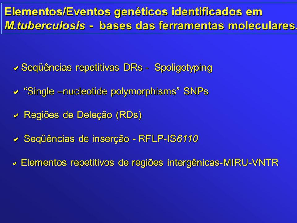 Elementos/Eventos genéticos identificados em