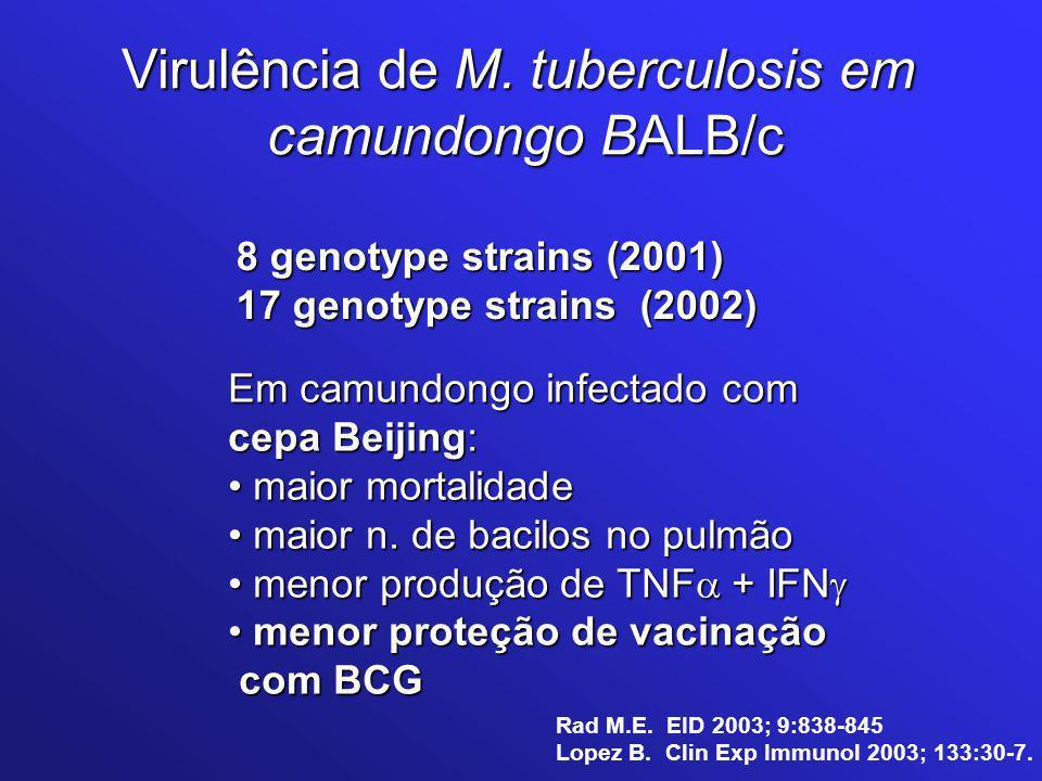 Virulência de M. tuberculosis em