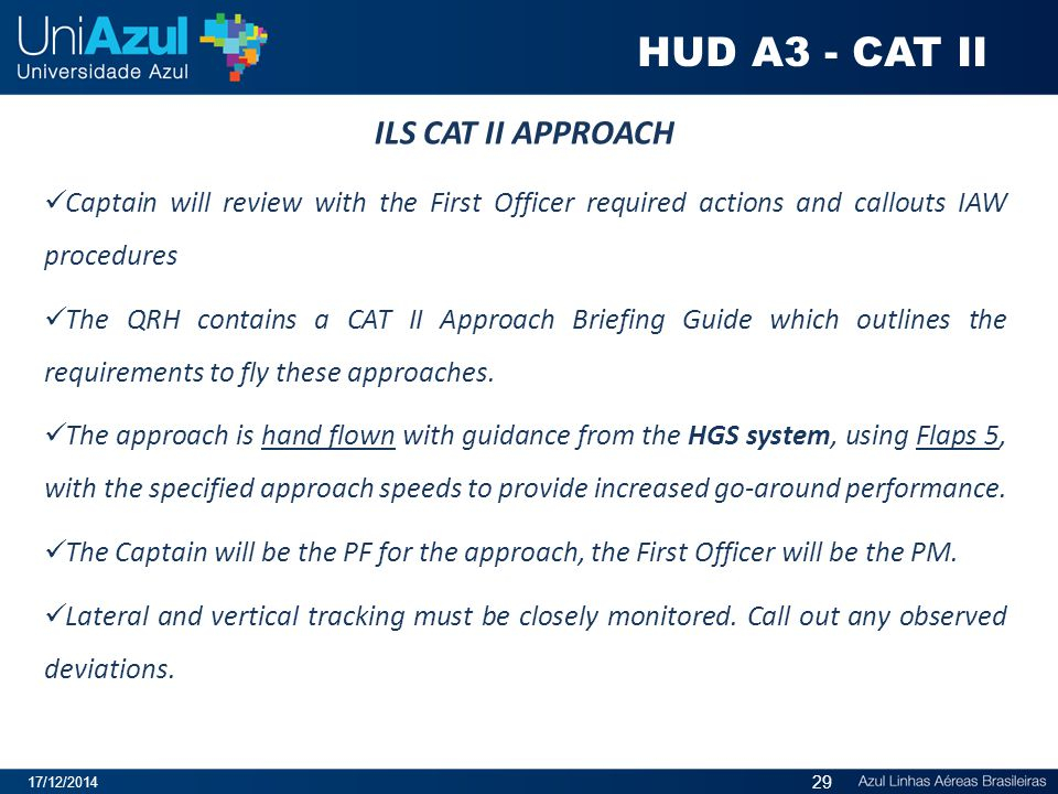 HUD A3 - CAT II ILS CAT II APPROACH