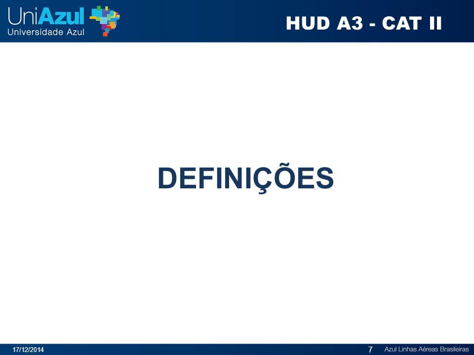 HUD A3 - CAT II DEFINIÇÕES 07/04/2017