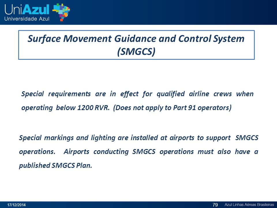 Surface Movement Guidance and Control System (SMGCS)