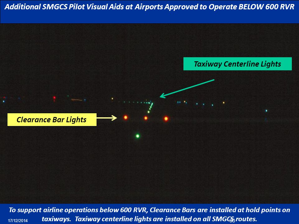 Taxiway Centerline Lights