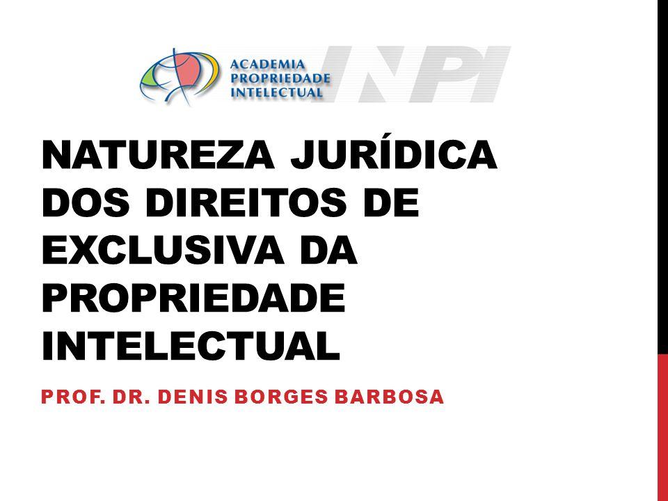 Natureza jurídica dos direitos de exclusiva da Propriedade intelectual